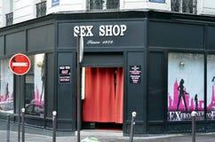 Sex shop in Montmartre, Paris Royalty Free Stock Photos
