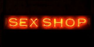Sex Shop Neon Sign Royalty Free Stock Photography