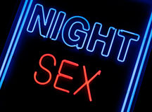 Sex shop sign. Neon sex shop sign in a window Royalty Free Stock Photography