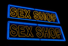 Sex shop sign Stock Images
