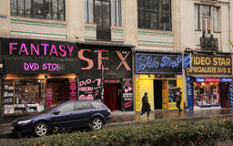 Sex shops. In Pigalle district, Paris royalty free stock photos