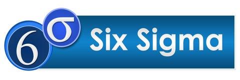 Sex Sigma två blåa cirklar vektor illustrationer