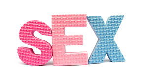 Sex spelled out stock photos