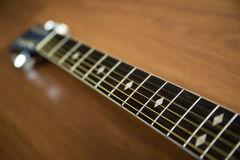 Sex stränger av gitarren Arkivbilder