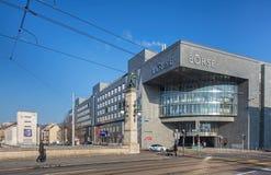 SEX Swiss Exchange byggnad Fotografering för Bildbyråer