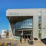 SEX Swiss Exchange byggnad i Zurich, Schweiz Arkivfoto