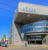 SEX Swiss Exchange byggnad i Zurich, Schweiz Royaltyfri Bild