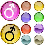 Sex Symbol. The cristal red and yellow color sex symbol Stock Photos