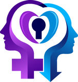 Sex symbol logo royalty free illustration