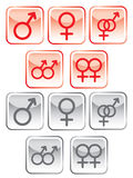 Sex symbol set Stock Image