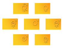 Sex symbols Royalty Free Stock Photos