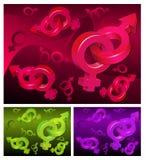 Sex symbols background Royalty Free Stock Photography