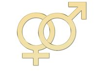 Sex symbols in Gold Royalty Free Stock Photography