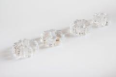 Sex toys -  set of rings holding penis erection, on white Royalty Free Stock Image