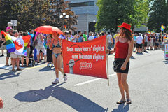 Sex trade workers in Pride Parade Stock Photo