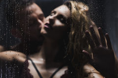 Sex under the shower Royalty Free Stock Images
