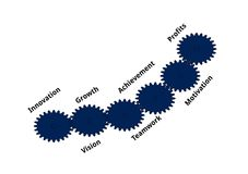 Sex viktiga affärsexpertis Arkivbild
