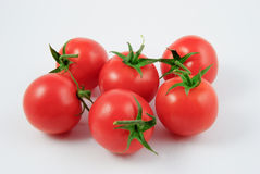 Sex vinrankatomater (Solanumlycopersicumen) Arkivfoton