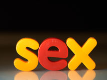 Sex word Royalty Free Stock Image