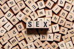 Sex word concept royalty free stock photo