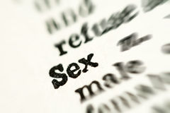 Sex word in dictionary Royalty Free Stock Images