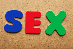 Sex word Stock Images