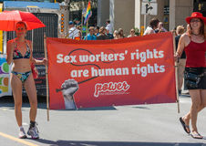 Sex Workers Walking in Capital Pride Parade Royalty Free Stock Images