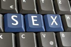Sexe écrit sur le clavier d'ordinateur Image stock
