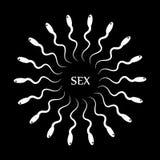 Sexe avec le sperme II Image stock