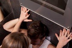 Sexe dans la toilette du club de musique Photo libre de droits