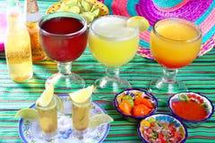 Sexe de Margarita sur le tequila de bière de cocktail de plage photographie stock libre de droits