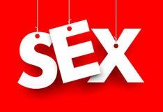 sexe Lettres sur des ficelles Images stock