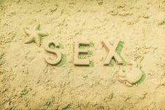 Sexe sur la plage Photo libre de droits