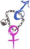 Sexes Chained Stock Images