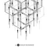 Sexhörnig affärsmodell vetenskaplig medicinsk forskning Sexhörningsstrukturgaller geometrisk abstrakt bakgrund royaltyfri illustrationer