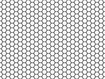 Sexhörnig celltextur Honungsexhörningsceller, honeyed hårkamrastertextur och vektor för modell för honungskakatyg sömlös stock illustrationer