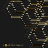 Sexhörnig geometrisk bakgrund Genetiska sexhörningar och socialt nätverk Framtida geometrisk mall 3d business dimensional present Arkivfoton