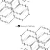 Sexhörnig geometrisk bakgrund Genetiska sexhörningar och socialt nätverk Framtida geometrisk mall 3d business dimensional present Royaltyfria Bilder
