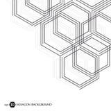 Sexhörnig geometrisk bakgrund Genetiska sexhörningar och socialt nätverk Framtida geometrisk mall 3d business dimensional present Royaltyfria Foton