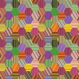 sexhörniga patchworkband vektor illustrationer