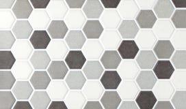 Sexhörniga tegelplattor för mosaisk marmor Arkivbilder
