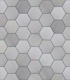 Sexhörnigt aluminium belagd med tegel sömlös textur Arkivfoto