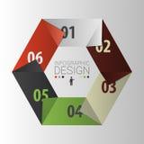 sexhörning Infographic designmall för presentation vektor Royaltyfria Foton