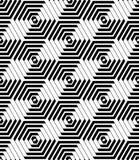 Sexhörnings- och diamantmodell geometrisk seamless textur stock illustrationer