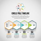 SexhörningshorisontalPeel Infographic Royaltyfri Bild