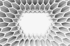 Sexhörningsmodell som inramar ett tomt utrymme 110 Arkivfoton