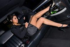 sexig affärskvinna Arkivbild