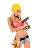 sexig arbetare för konstruktion Arkivfoton