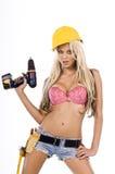 sexig arbetare för konstruktion Royaltyfria Bilder