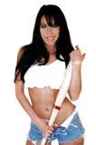 sexig basebollspelare Royaltyfri Foto